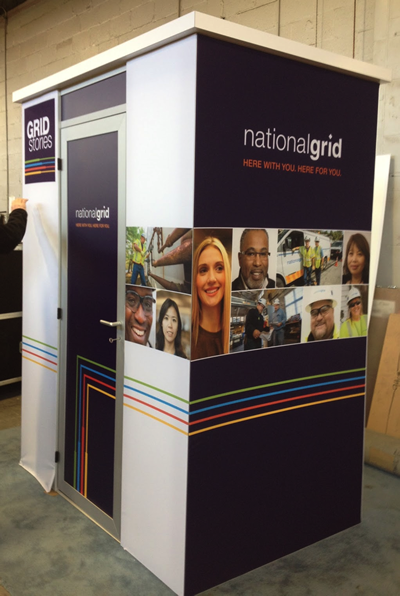 National grid kiosk booth