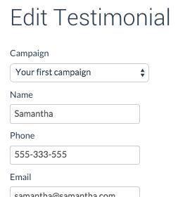 edit testimonial text