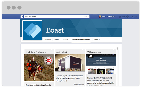 Collect and display praise on your facebook page