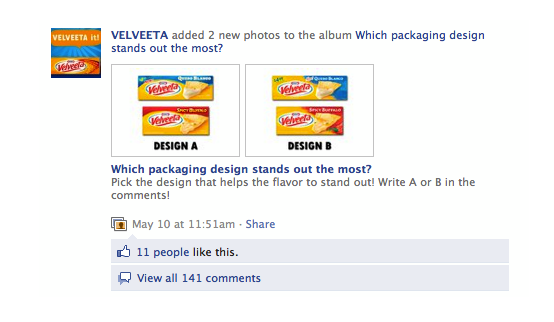 Velveeta Instant Customer Feedback