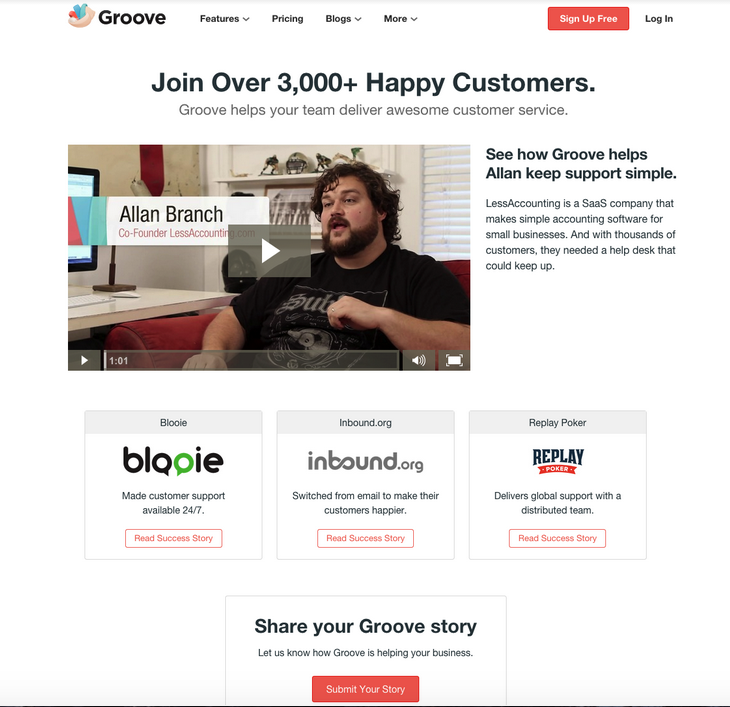Groove Customer Testimonials