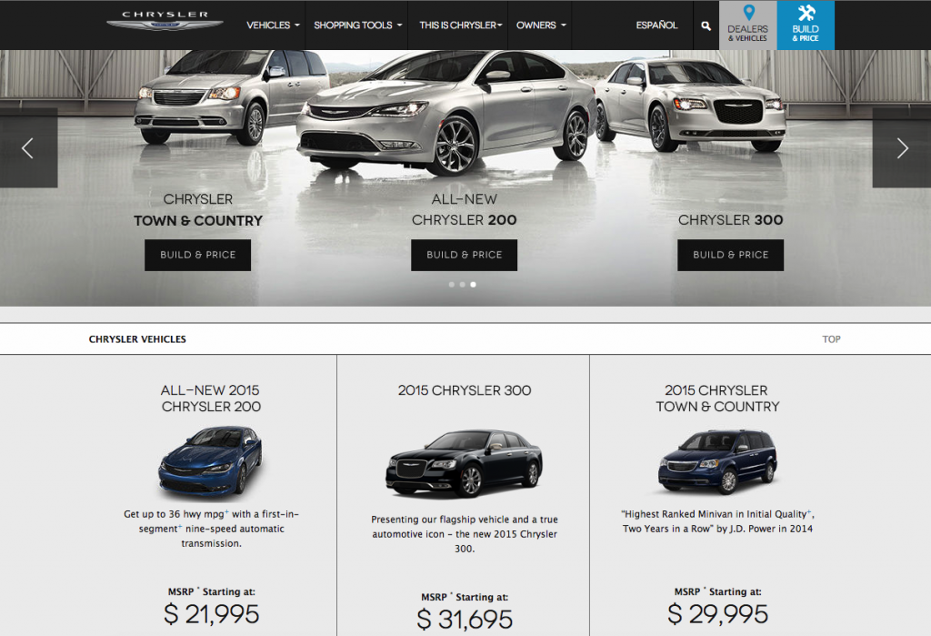 Chrysler's Main Page