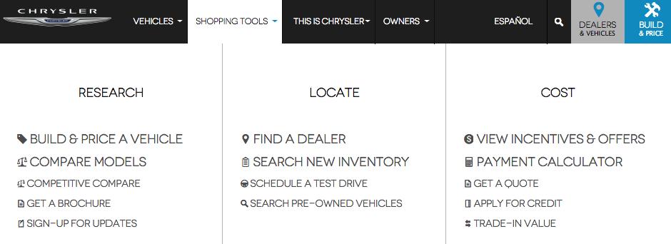 Chryslers Tabs