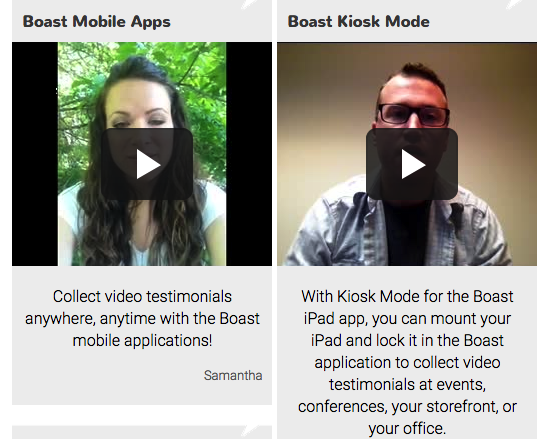 Video Testimonials with Boast
