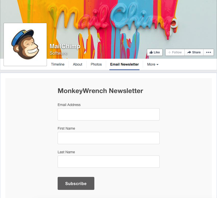 Mailchimp Facebook Integration