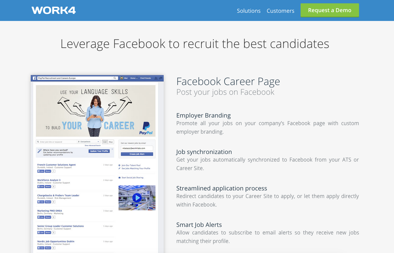 Work4 Facebook Job Posting App