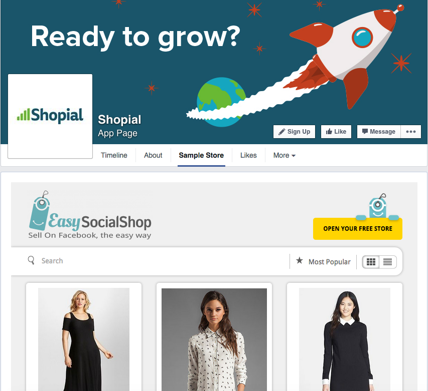 Shopial Facebook Ecommerce App