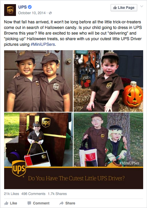 UPS Halloween Content Marketing
