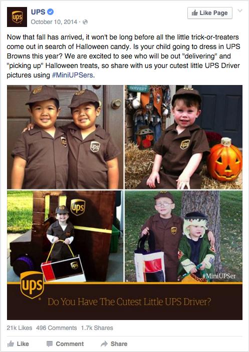 UPS Halloween Content Marketing
