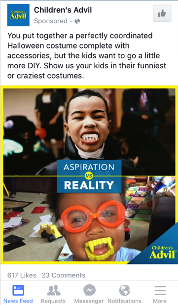 Advil Halloween Content Marketing