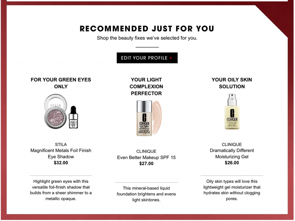 Recommended For You Personalization Email
