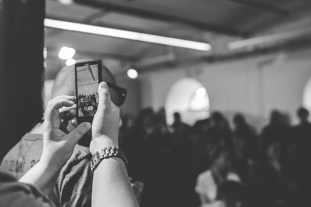 Video marketing at company event