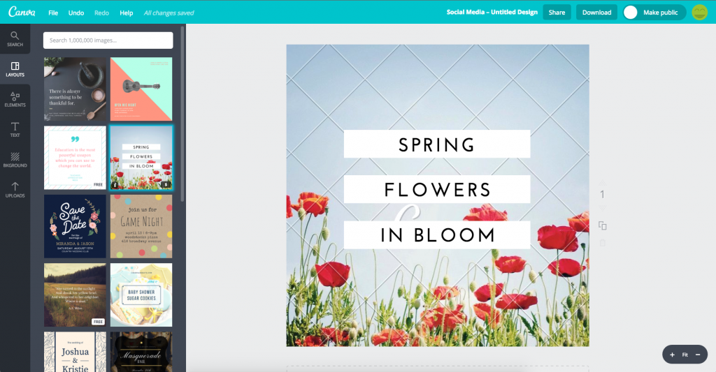 Marketing visuals with canva