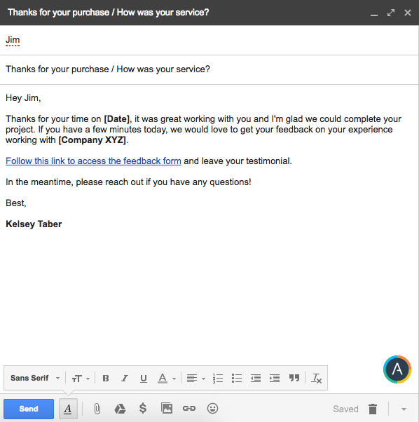 5 examples of testimonial request emails that work sales follow up testimonial request emails spiritdancerdesigns Image collections