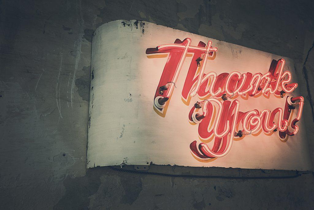 testimonial thank you page