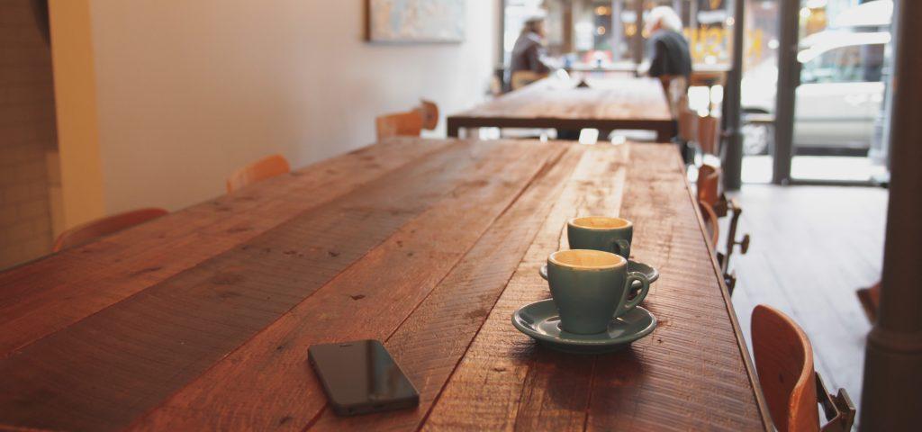 coffee shop customer testimonial campaign meeting