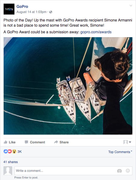 GoPro User Generated Content Social Media Posts