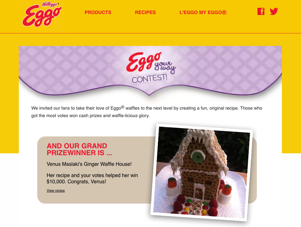 user generated content examples eggos