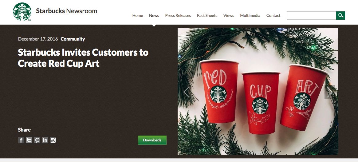 user generated content examples red cup art