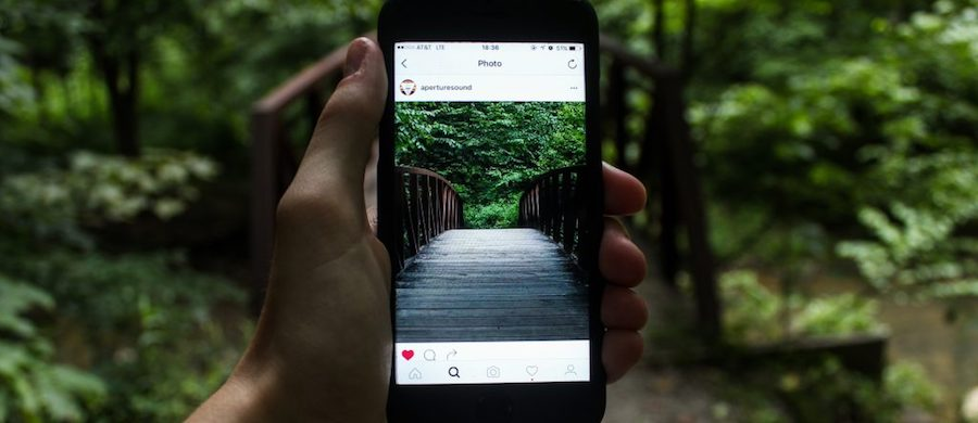 Instagram page with user generated content