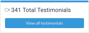 Total testimonials Boast dashboard