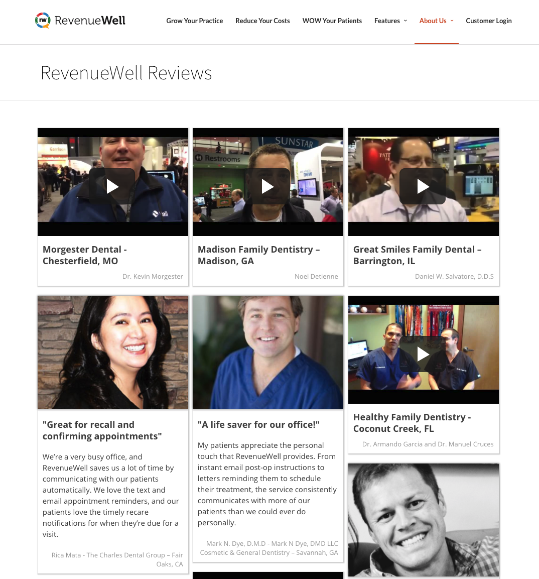 RevenueWell Testimonial Page