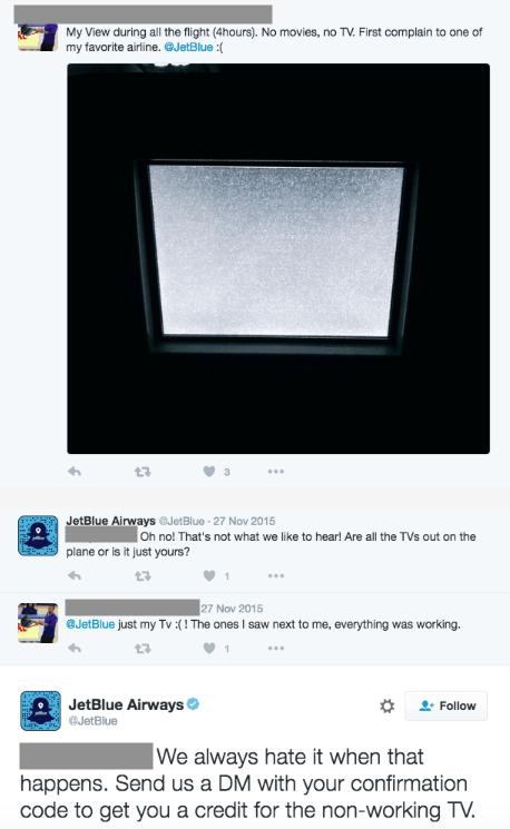 jet blue review response