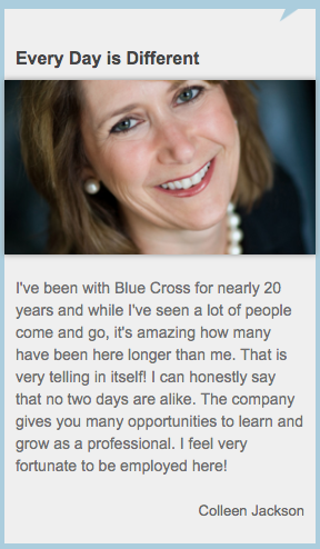 blue cross blue shield testimonials