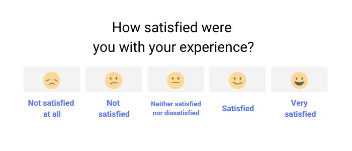 CSAT survey example