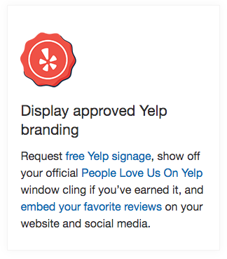 post yelp signage to get more yelp reviews
