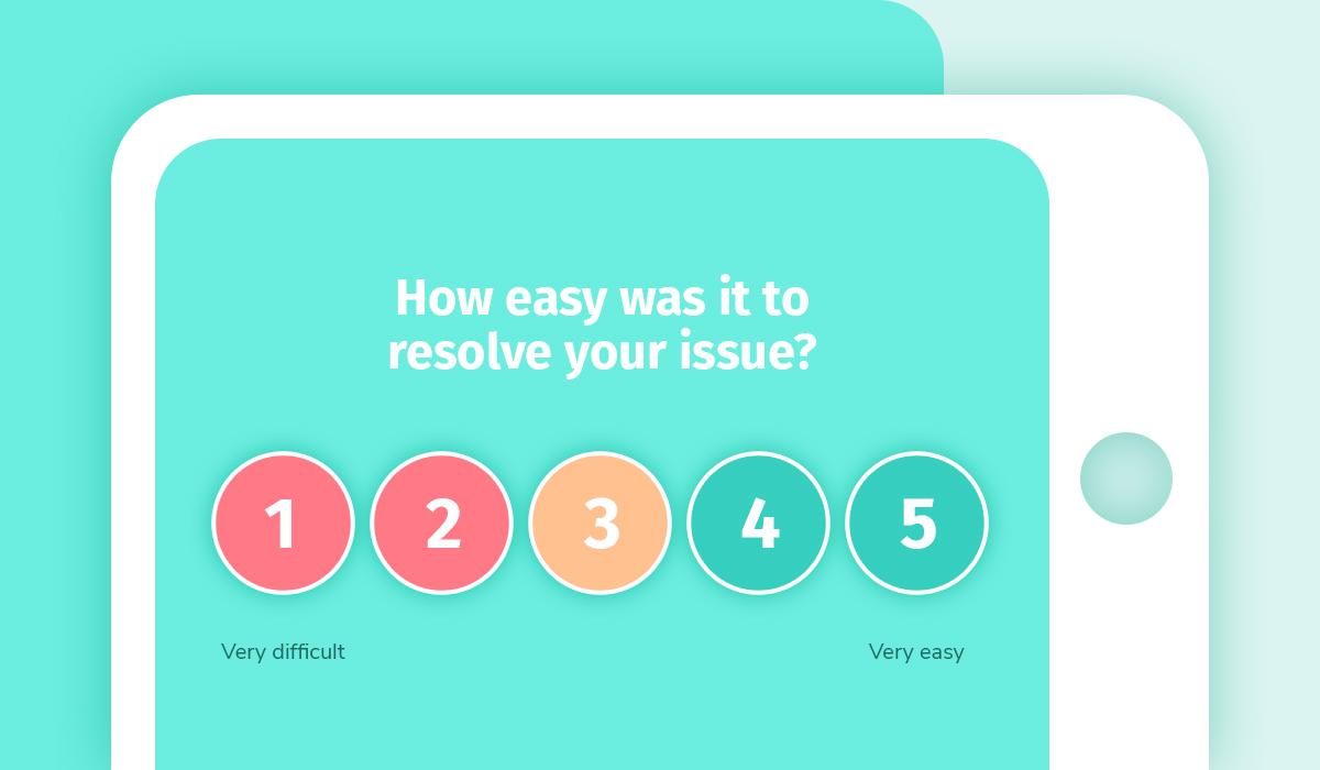 when to use a customer effort score survey