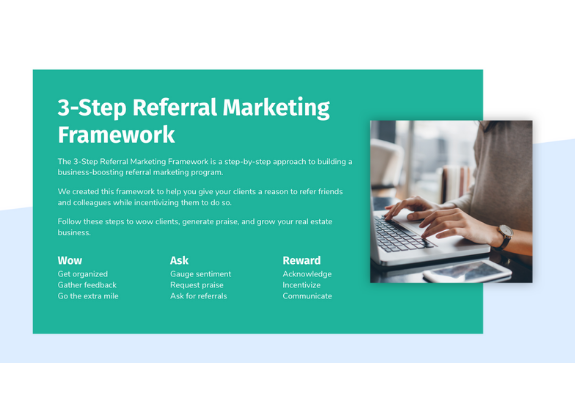 Referral marketing framework