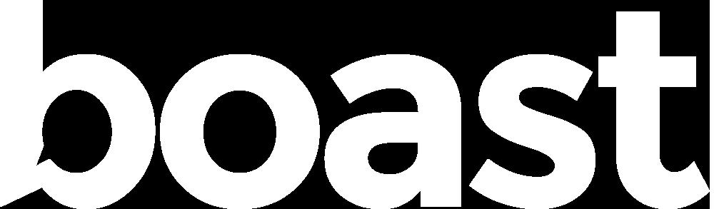 boast logo white